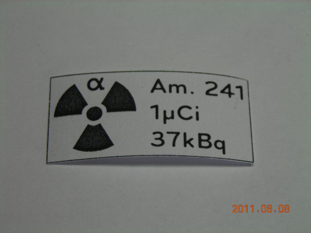 Americium 241 Source Holder