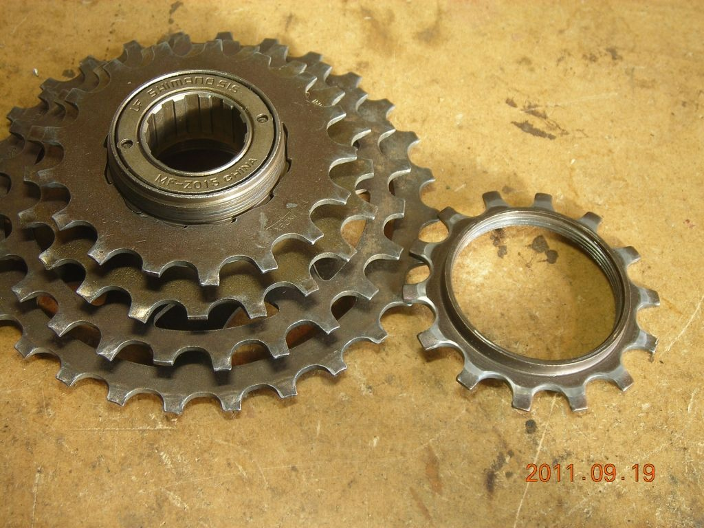 Using Bicycle Sprockets